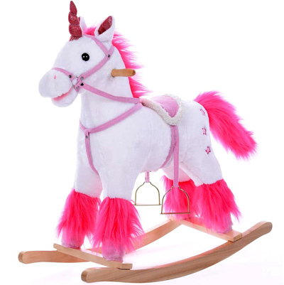 Caballito balancin unicornio para niñas